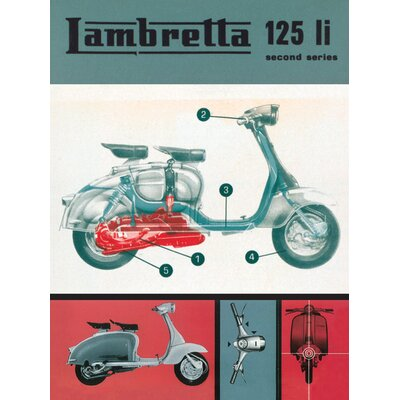 Art Group Lambretta 125 LI Vintage Advertisement Canvas Wall Art