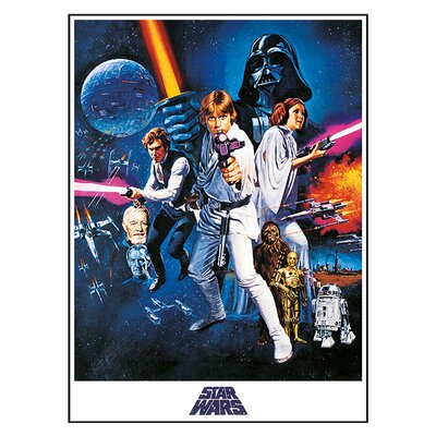 Art Group Star Wars Episode IV A New Hope - One Sheet Vintage Advertisement Canvas Wall Art