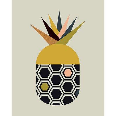 Art Group Little Design Haus - Pineapple Canvas Wall Art