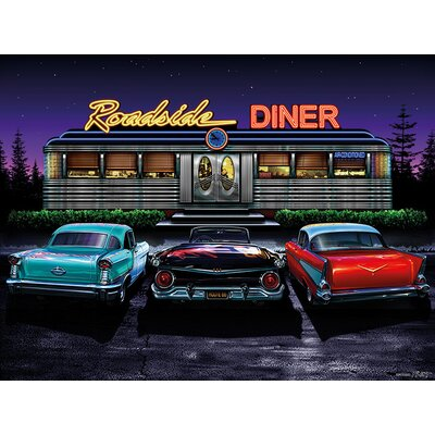 Art Group D - Roadside Diner Helen Flint Canvas Wall Art