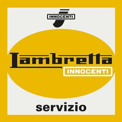 Art Group Lambretta Servizio Vintage Advertisement Canvas Wall Art