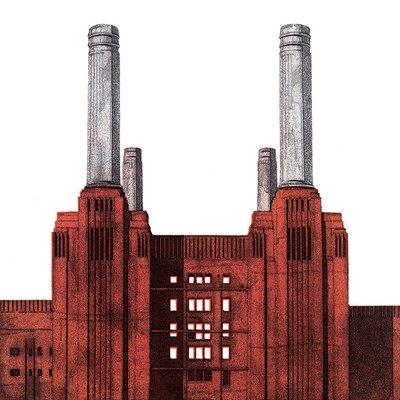 Art Group Barry Goodman - Battersea Power Station Canvas Wall Art