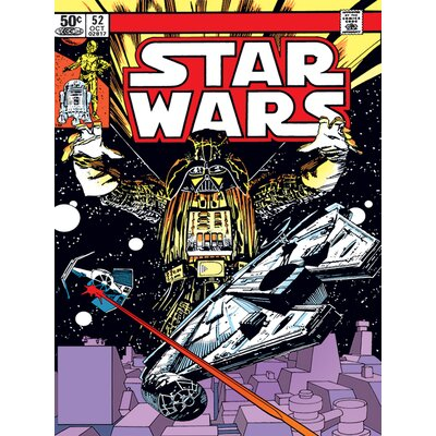Art Group Star Wars - Space Chase Vintage Advertisement Canvas Wall Art