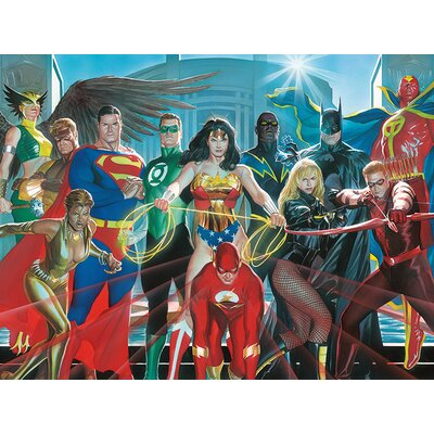 Art Group Justice League - Characters Canvas Wall Art
