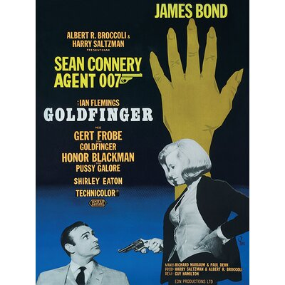 Art Group James Bond - Goldfinger - Hand Vintage Advertisement Canvas Wall Art