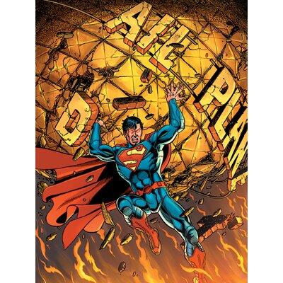 Art Group Superman - Daily Planet Vintage Advertisement Canvas Wall Art