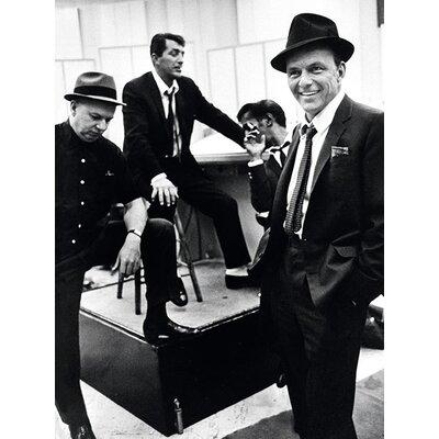 Art Group Time Life - Dean Martin Sammy Davis Jr and Frank Sinatra Canvas Wall Art