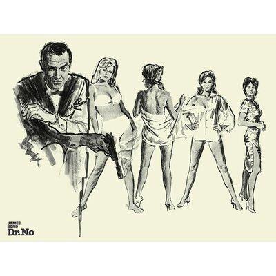 Art Group James Bond - Dr.No Sketch Canvas Wall Art