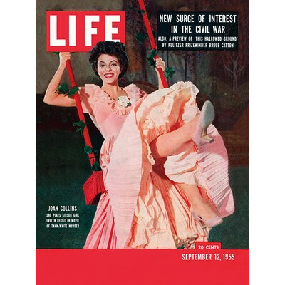 Art Group Time Life - Life Cover - Joan Collins Vintage Advertisement Canvas Wall Art