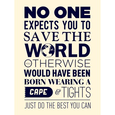Art Group Save the World Typography Canvas Wall Art
