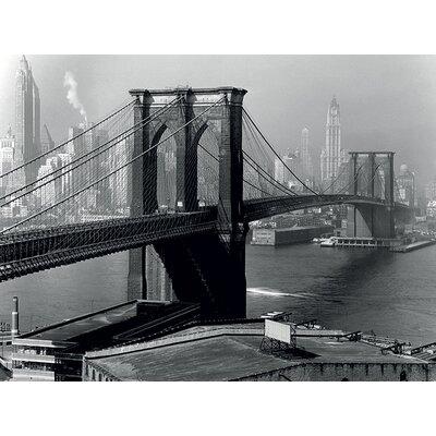 Art Group Time Life - Brooklyn Bridge New York 1946 Canvas Wall Art