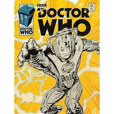 Art Group Doctor Who - Cyberman Comic Vintage Advertisement Canvas Wall Art