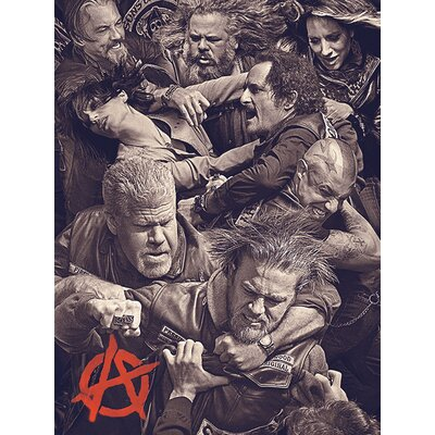 Art Group Sons of Anarchy - Fight Canvas Wall Art