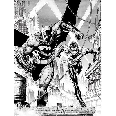 Art Group DC Comics - Batman and Nightwing Vintage Advertisement Canvas Wall Art