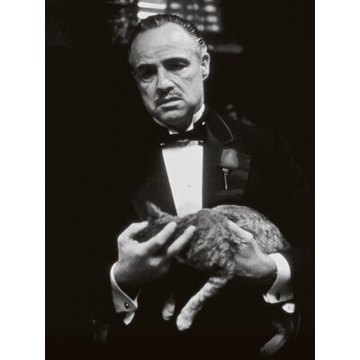 Art Group The Godfather - Cat B and W Canvas Wall Art