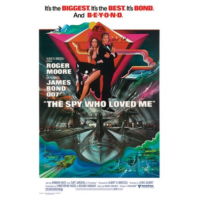 Art Group James Bond The Spy Who Loved Me Vintage Advertisement Canvas Wall Art