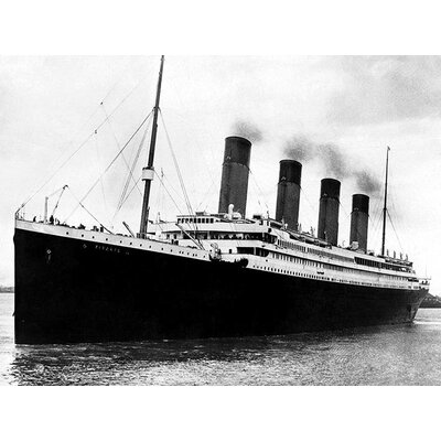 Art Group Titanic Black and White Canvas Wall Art