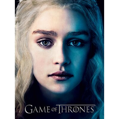 Art Group Game of Thrones Season 3 - Daenerys Vintage Advertisement Canvas Wall Art