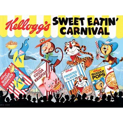 Art Group Vintage Kelloggs - Sweet Eatin Carnival Land Vintage Advertisement Canvas Wall Art