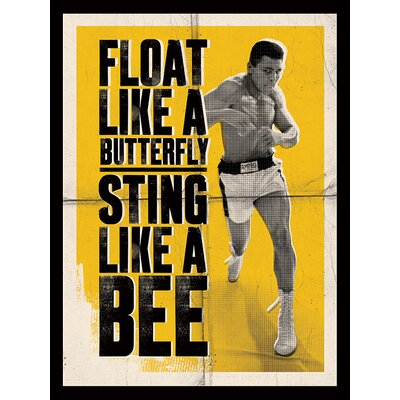 Art Group Muhammad Ali - Float Like a Butterfly - Corbis Canvas Wall Art