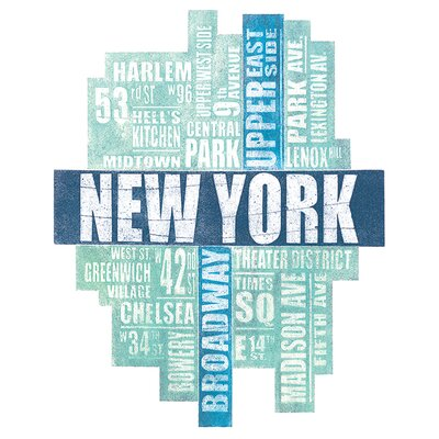 Art Group Barry Goodman - New York Type Typography Canvas Wall Art