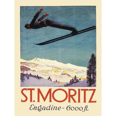 Art Group St. Moritz Vintage Advertisement Canvas Wall Art