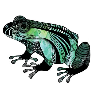 Art Group Sofie Rolfsdotter - Le Frog Canvas Wall Art