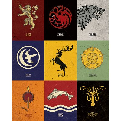 Art Group Game of Thrones - Sigils Canvas Wall Art