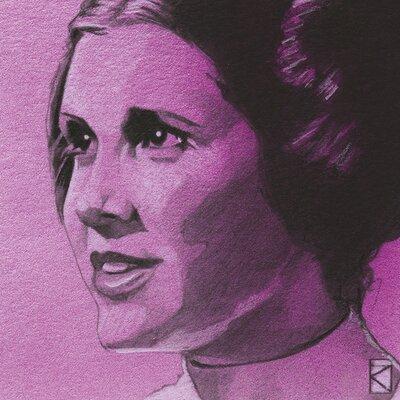 Art Group Star Wars - Princess Leia Sketch Canvas Wall Art