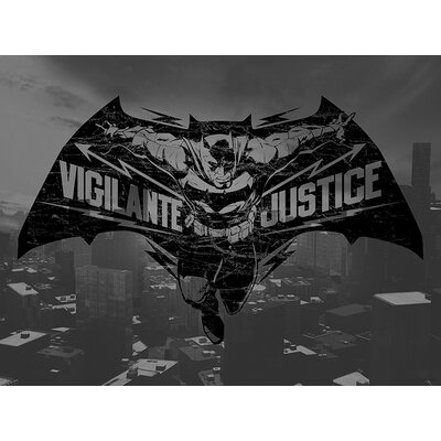 Art Group Batman V Superman - Batman Vigilante Vintage Advertisement Canvas Wall Art
