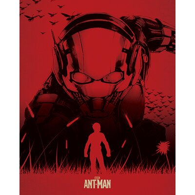 Art Group Ant-Man - Silhouette Vintage Advertisement Canvas Wall Art