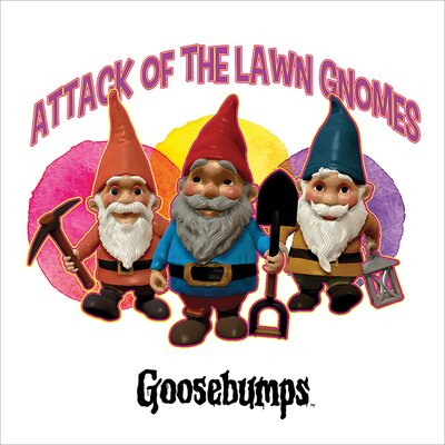 Art Group Goosebumps - Attack of the Lawn Gnomes Vintage Advertisement Canvas Wall Art