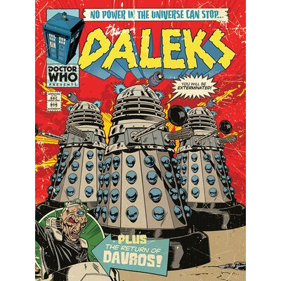 Art Group Doctor Who - The Daleks Comic Vintage Advertisement Canvas Wall Art