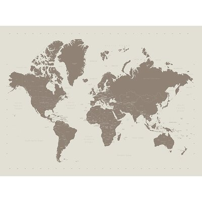 Art Group World Map - Contemporary Stone Canvas Wall Art