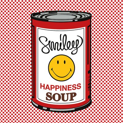 Art Group Happiness Soup Vintage Advertisement Canvas Wall Art