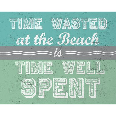 Art Group Go Jump in The Lake - Time Wasted at The Beach Typography Canvas Wall Art