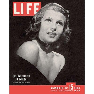 Art Group Time Life - Life Cover - Rita Hayworth Vintage Advertisement onCanvas