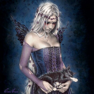 Art Group Victoria Frances - Angel of Death Canvas Wall Art