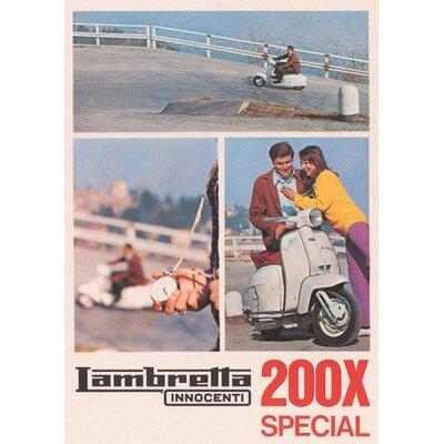 Art Group Lambretta 200SX Vintage Advertisement Canvas Wall Art