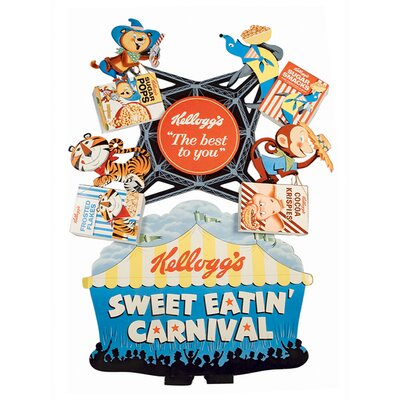 Art Group Vintage Kelloggs Sweet Eatin' Carnival Canvas Wall Art