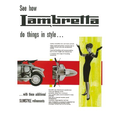 Art Group Lambretta Do Thing in Style Vintage Advertisement Canvas Wall Art