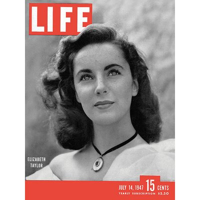 Art Group Time Life - Life Cover - Elizabeth Taylor Canvas Wall Art
