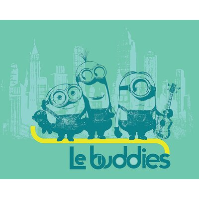 Art Group Minions - Le Buddies Vintage Advertisement Canvas Wall Art