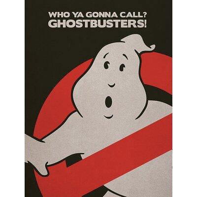 Art Group Ghostbusters - Logo Vintage Advertisement Canvas Wall Art