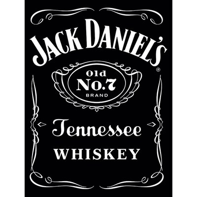 Art Group Jack Daniel's - Label Typography Canvas Wall Art