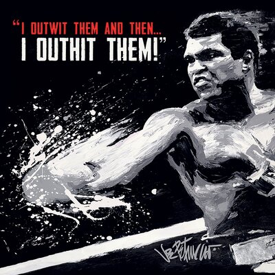 Art Group Muhammad Ali - Outwit Outhit Canvas Wall Art