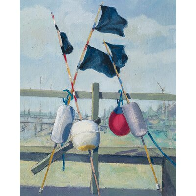 Art Group Jane Hewlett - Lobster Pot Buoys Canvas Wall Art