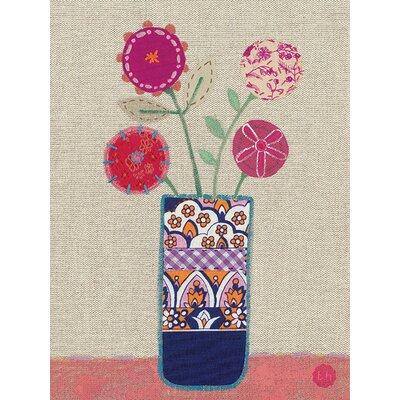 Art Group Bess Harding - Four Pink Flowers Canvas Wall Art