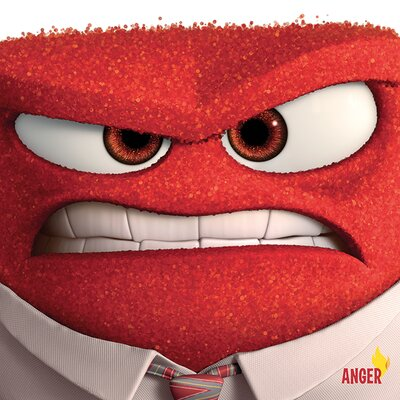 Art Group Inside Out - Anger Vintage Advertisement Canvas Wall Art