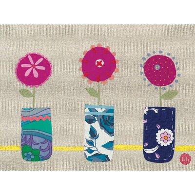 Art Group Bess Harding - Three Pink Flowers Canvas Wall Art